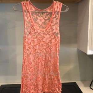 BKE sheer peach tank